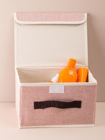 Różowe składane pudełko do przechowywania