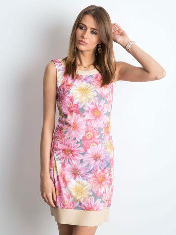 Różowo-beżowa sukienka Midnight