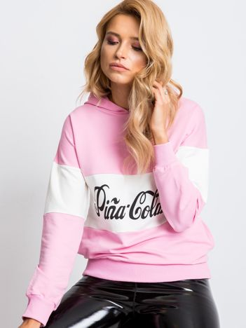Różowo-biała bluza Pina