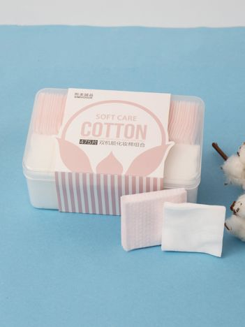 Różowo-białe bawełniane płatki kosmetyczne