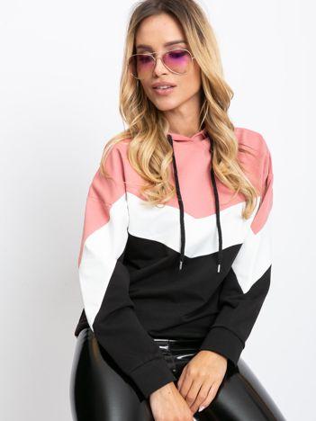 Różowo-czarna bluza Dignity