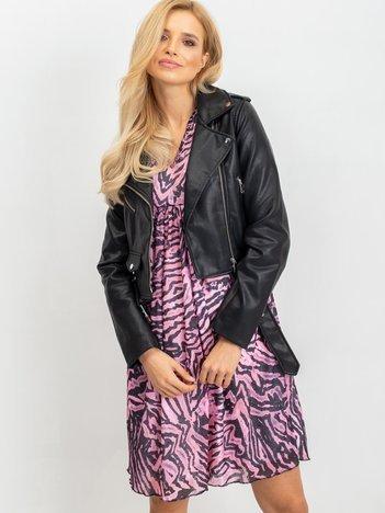 Różowo-czarna sukienka Tiger