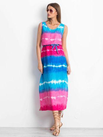Różowo-niebieska sukienka Lagoon