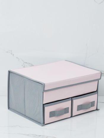 Różowo-szary składany organizer