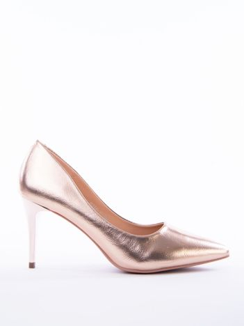 Różowo-złote metaliczne szpiki Rosi