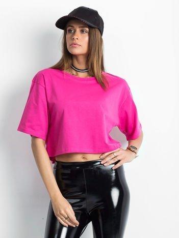 Różowy krótki t-shirt