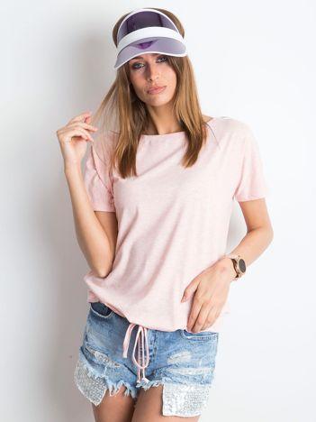 Różowy melanżowy t-shirt Curiosity