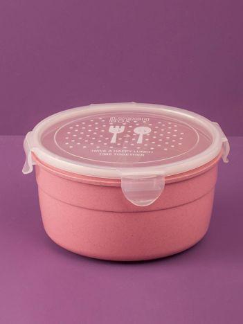 Różowy okrągły pojemnik na żywność
