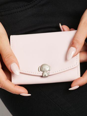Różowy podłużny portfel z ekoskóry