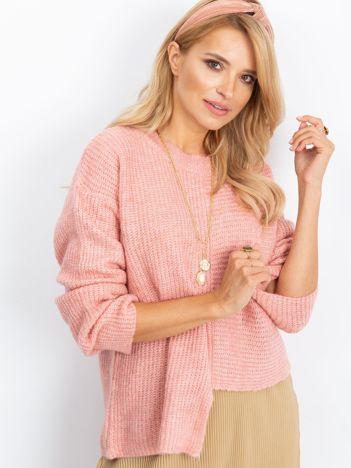 Różowy sweter Sunset