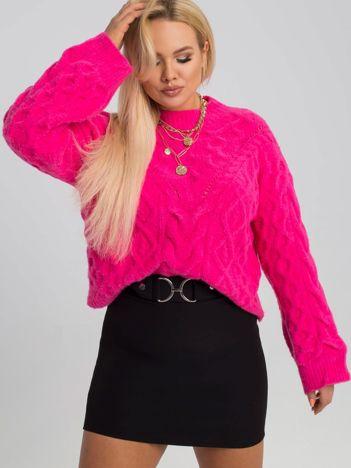 Różowy sweter plus size Maya