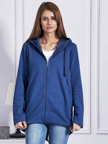 Rozpinana bluza z kapturem ciemnoniebieska