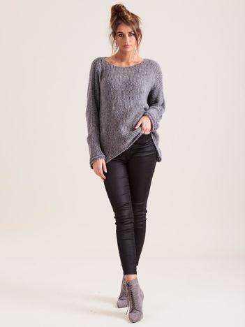 SCANDEZZA Ciemnoszary luźny sweter
