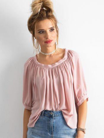 SCANDEZZA Różowa bluzka oversize