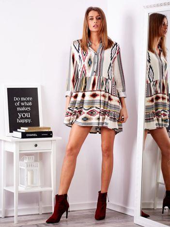 SCANDEZZA Sukienka w etniczne wzory
