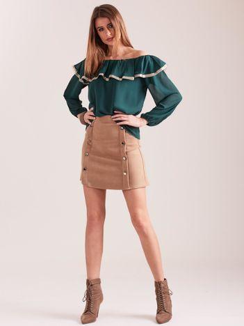 SCANDEZZA Zielona bluzka hiszpanka
