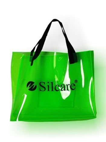 SILCARE Torba Silcare Transparent FLUO Green