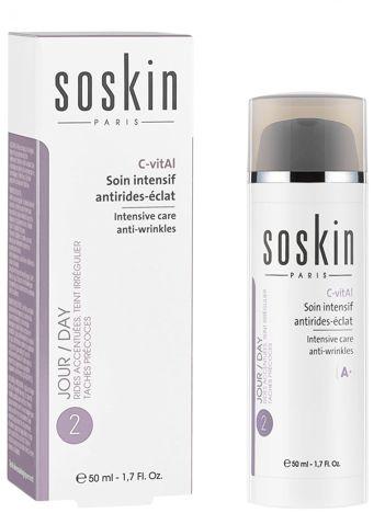 SOSKIN C-Vital intensywny krem przeciwzmarszczkowy na dzień SPF 20 50 ml