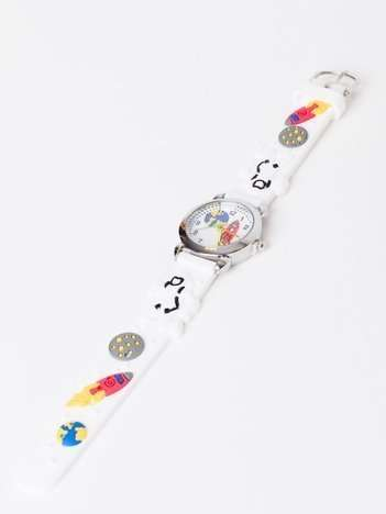 SPACE Biały zegarek dziecięcy