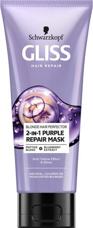 """Schwarzkopf Gliss Hair Repair Purple Maska do włosów blond i rozjaśnionych  200ml"""""""
