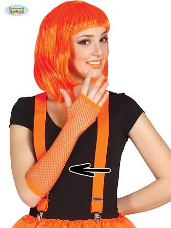 Siatkowe rękawiczki pomarańczowe