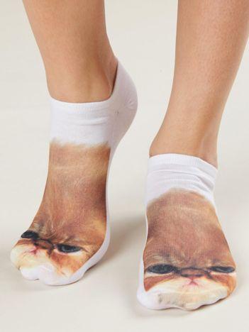 Skarpetki stopki z nadrukiem kota