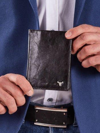 Skórzany czarny męski portfel