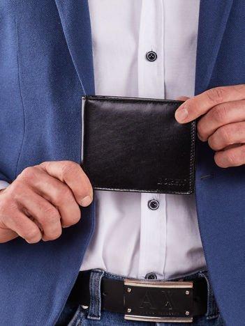 Skórzany męski czarny portfel