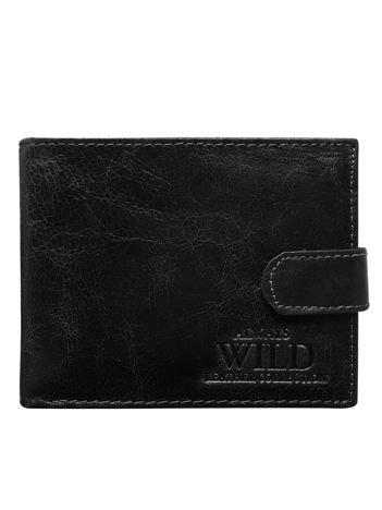 Skórzany portfel męski czarny
