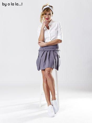 Spódnica damska szara z paskami BY O LA LA