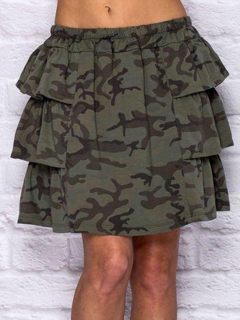 Spódnica damska z motywem moro khaki