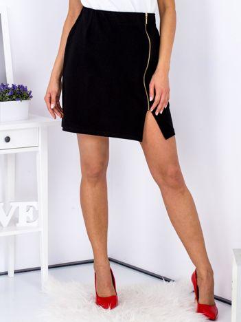 Spódnica dresowa czarna z suwakiem