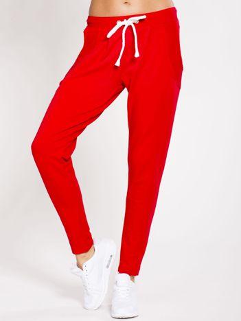 Spodnie dresowe bawełniane czerwone