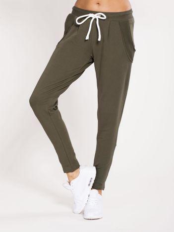 Spodnie dresowe bawełniane khaki