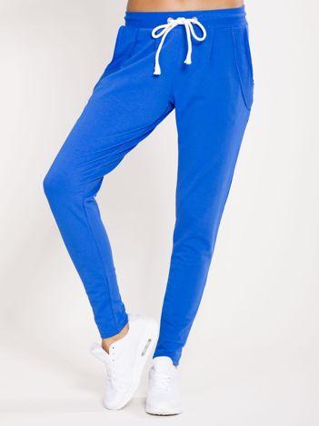 Spodnie dresowe bawełniane niebieskie