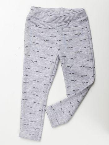 Spodnie dresowe dla dziewczynki szare