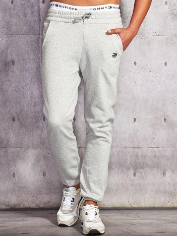 Spodnie dresowe męskie jasnoszare