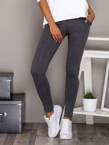Spodnie dresowe z kieszeniami ciemnoszare