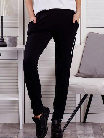 Spodnie dresowe ze wstawkami przy kieszeniach czarne