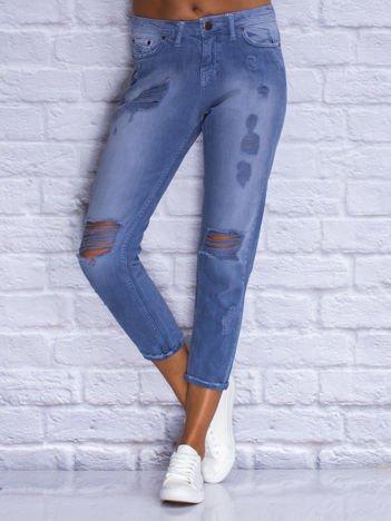 Spodnie jeansowe boyfriend niebieskie