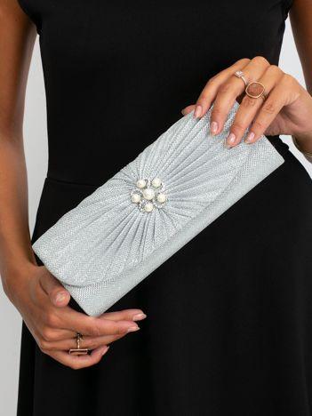 Srebrna kopertówka z perełkami