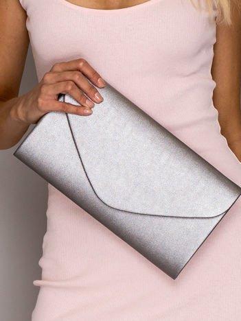 Srebrna torba kopertówka