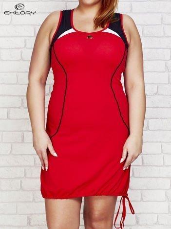 Sukienka damska z łezką przy dekolcie czerwona