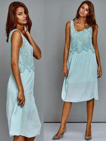 Sukienka letnia miętowa