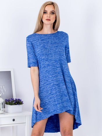 Sukienka niebieska z dłuższym tyłem
