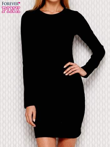 Sukienka w prążek czarna