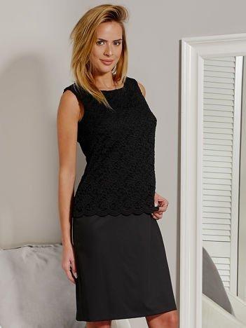 Sukienka z koronkową górą czarna