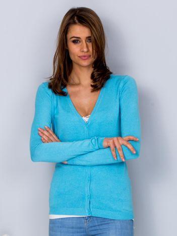 Sweter jasnoniebieski na guziki
