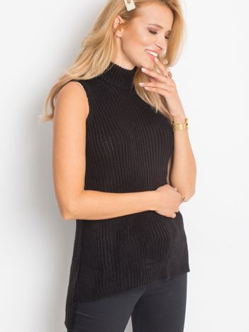 Sweter lace up czarny