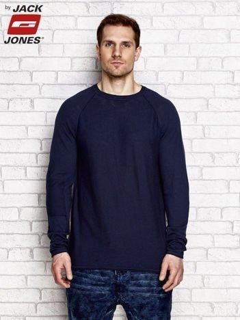Sweter męski o luźnym kroju granatowy